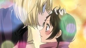 Mikage transfiriéndole sus poderes a Nanami.